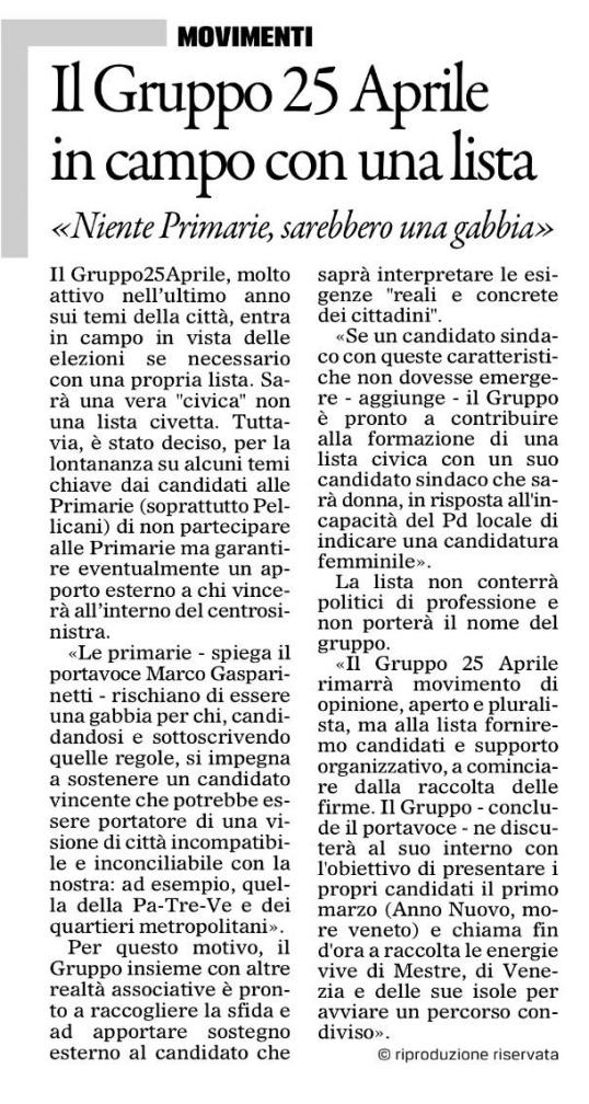 30gennaio2015 Gazzettino
