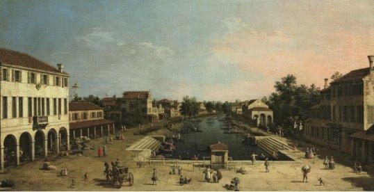 Mestre_-_Canaletto_-_piazza_Barche
