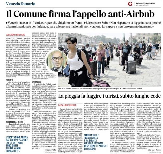 Venezia 23 giugno Gazzettino